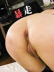 Morita Kurumi Asian has butt and vagina fucked same time by men