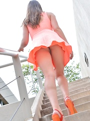 Jeri Big Orange Heels