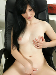 Fresh faced beauty with big puffy nipples gets naughty with her juicy twat