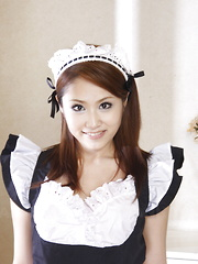 Sexy teen maid Iori Mizuki gets dirty at home