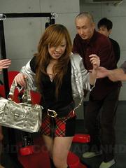 Hot Yurina enjoys in bukkake session on set
