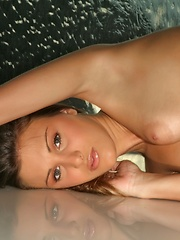 Glamorous Andie sexily strips off her cute, white dress showing off her great butt