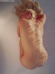 Goddess Kara Duhe on the floor seducing with her tight curves