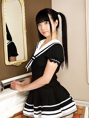 Cute Japanese girl Miku Himeno
