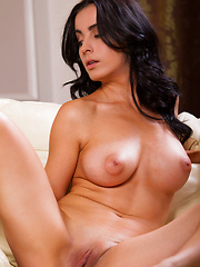 Marisol A performs a sizzling striptease, slowly revealing her magnificent assets.