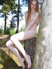 She has bought you out here to the forest so she can show off some of her sexy teen curves in the great outdoors.