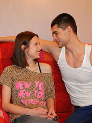 Beautiful and flexible teen hottie gets wet hole drilled