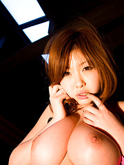 Rio Hamasaki Asian shows big bum in string and big nude hooters